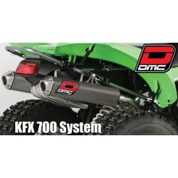 Scarico Doppio Quad DMC Kawasaki KFX 700 (colore Antracite)