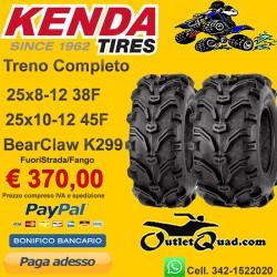 Treno Completo 25x8-12 + 25x10-12 Kenda Bear Claw K299