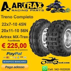 Treno Completo 22x7-10 + 20x11-10 Artrax MX-Trax AT1201/2