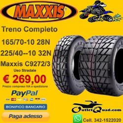 Treno Completo 165/70-10 + 225/40-10 C9272/3