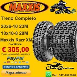 Treno Completo 20x6-10 + 18x10-8 Maxxis Razr XM