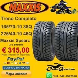 Treno Completo 165/70-10 + 225/40-10 Maxxis Spearz