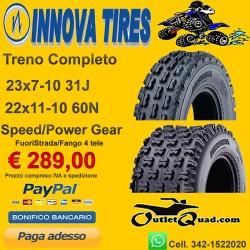 Treno Completo 23x7-10 + 22x11-10 Innova Speed/Power Gear