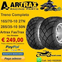Treno Completo 165/70-10 + 285/35-10 Artrax FasTrax AT1101