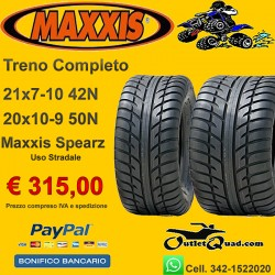 Treno Completo 21x7-10 + 20x10-9 Maxxis Spearz
