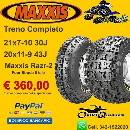 Treno Completo 21x7-10 + 20x11-9 Maxxis Razr2