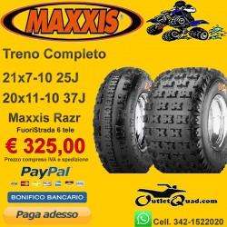 Treno Completo 21x7-10 + 20x11-10 Maxxis Razr2